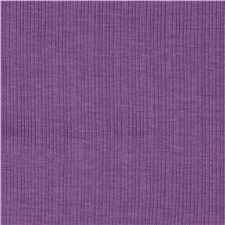 Stretch Rayon Rib Knit Lilac
