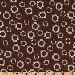 Cozy Cotton Flannel Circles & Dots Cocoa Fabric