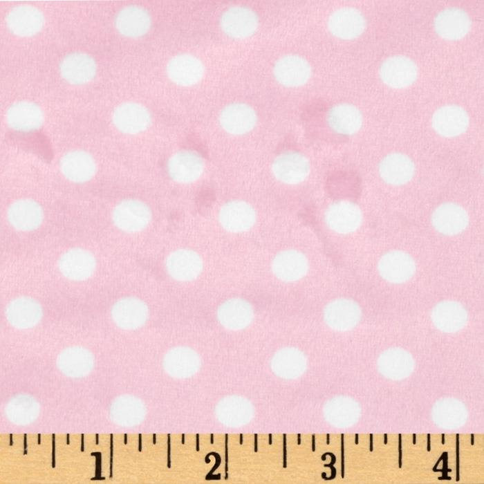 Minky Polka Dots Small Light Pink