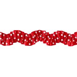 "Riley Blake 1"" Gathered Grosgrain Ribbon Red"