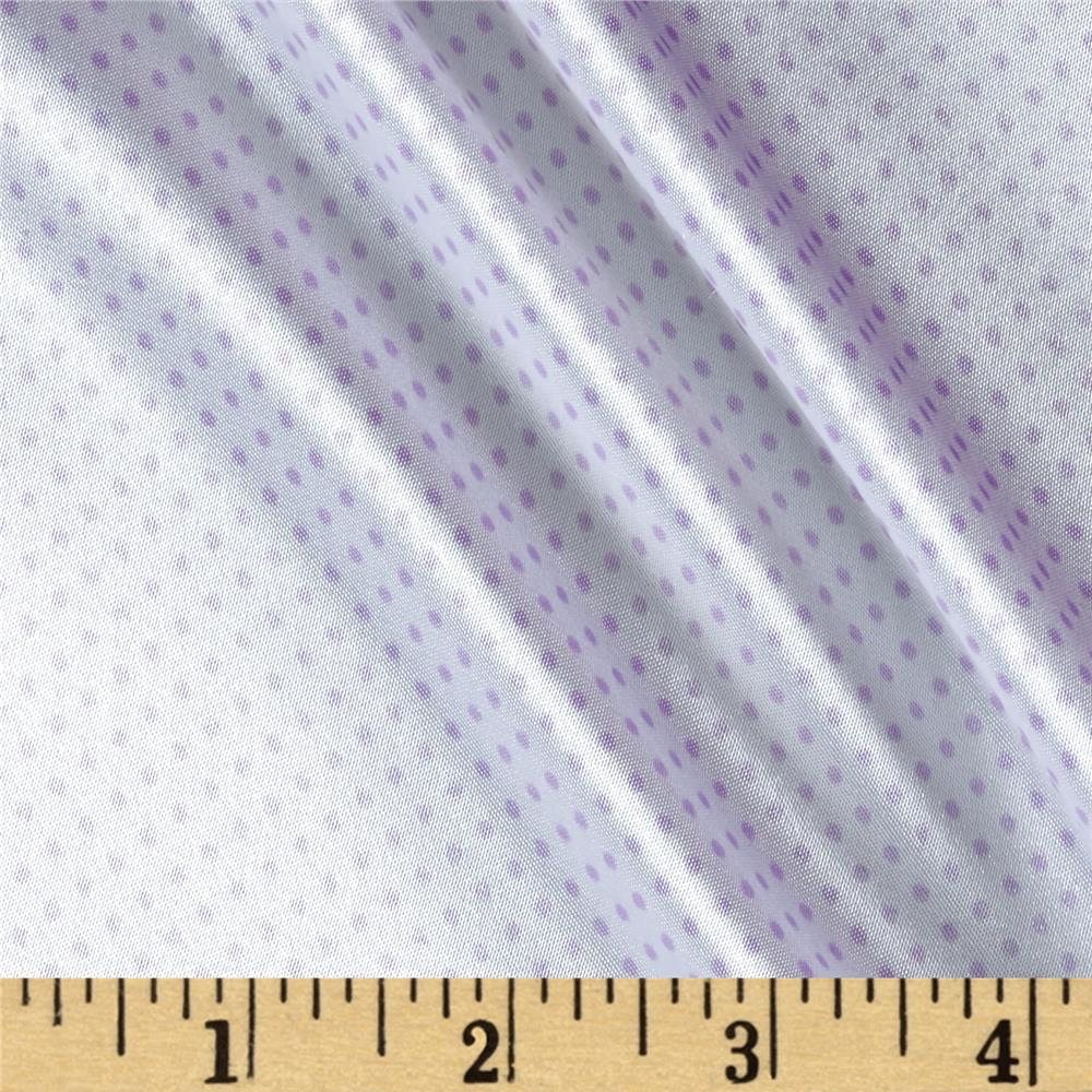 Silky Satin Charmeuse Pin Dot Lilac
