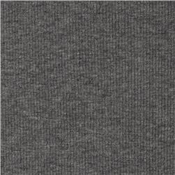 Cotton Rib Knit Heather Grey