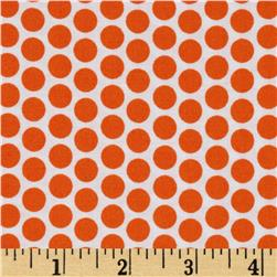Riley Blake Honeycomb Reversed Dot White/Orange