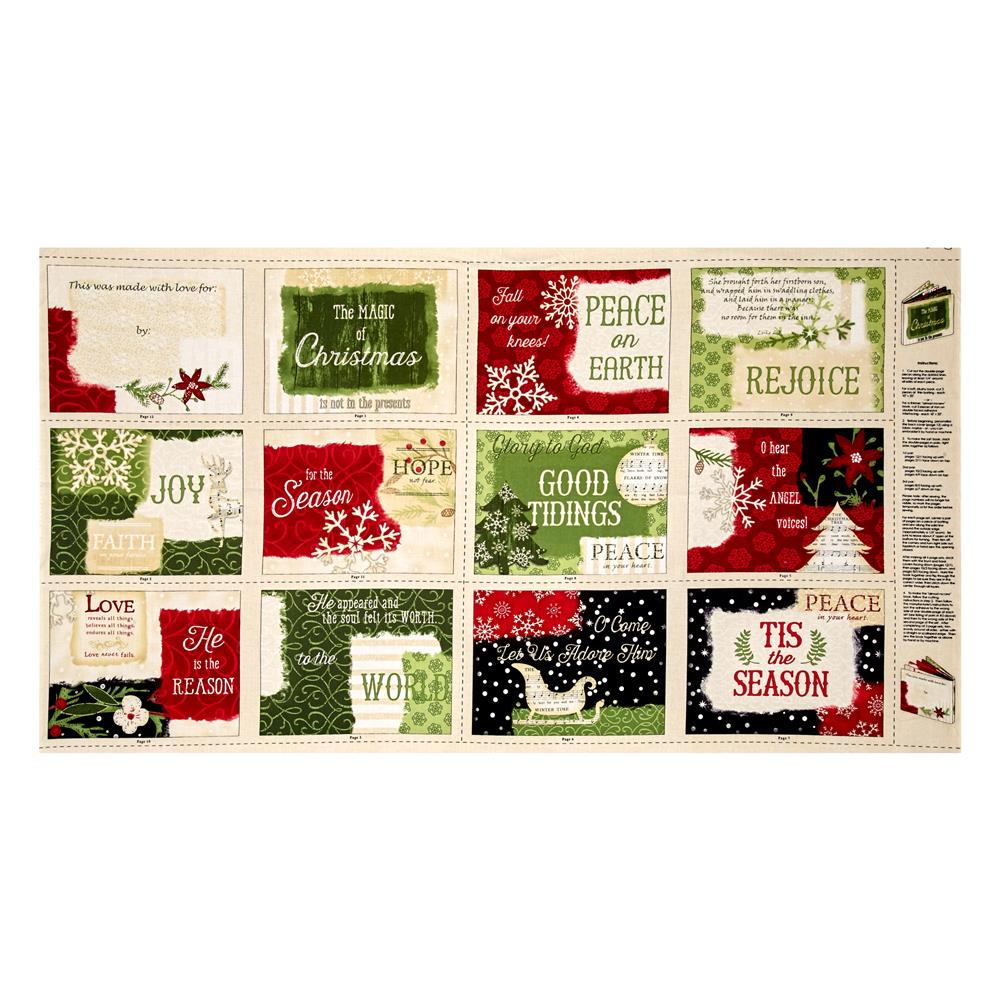 Reason For The Season 25'' Soft Book Panel Multi Fabric By The Yard