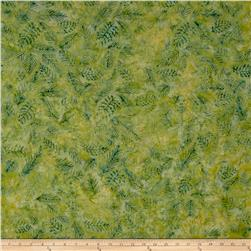 Island Batik Crystal Cove Leaf Vein Celery/Green