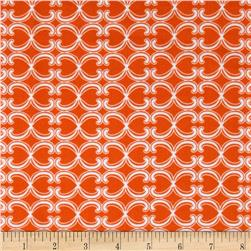 Kaufman 21 Wale Cool Cords Shapes Orange