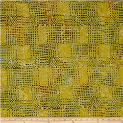Timeless Treasure Batik Tonga Gypsy Loom Mustard
