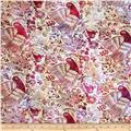 Bali Batiks Handpaints Ethnic Bird Raspberry