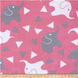 Simply Elephant Confetti Fleece Pink/Gray