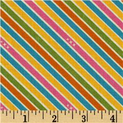 Riley Blake Unicorns & Rainbows Stripe Pink Fabric