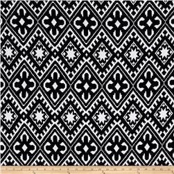 Liverpool Double Knit Geometric Ivory/Black