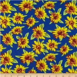 Soft Jersey Knit Floral Royal/Yellow