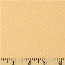 Kaufman Spot On Pearl Metallic Small Dot Buttercup