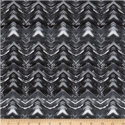 Stretch Jersey Knit Chevron Illusion Grey