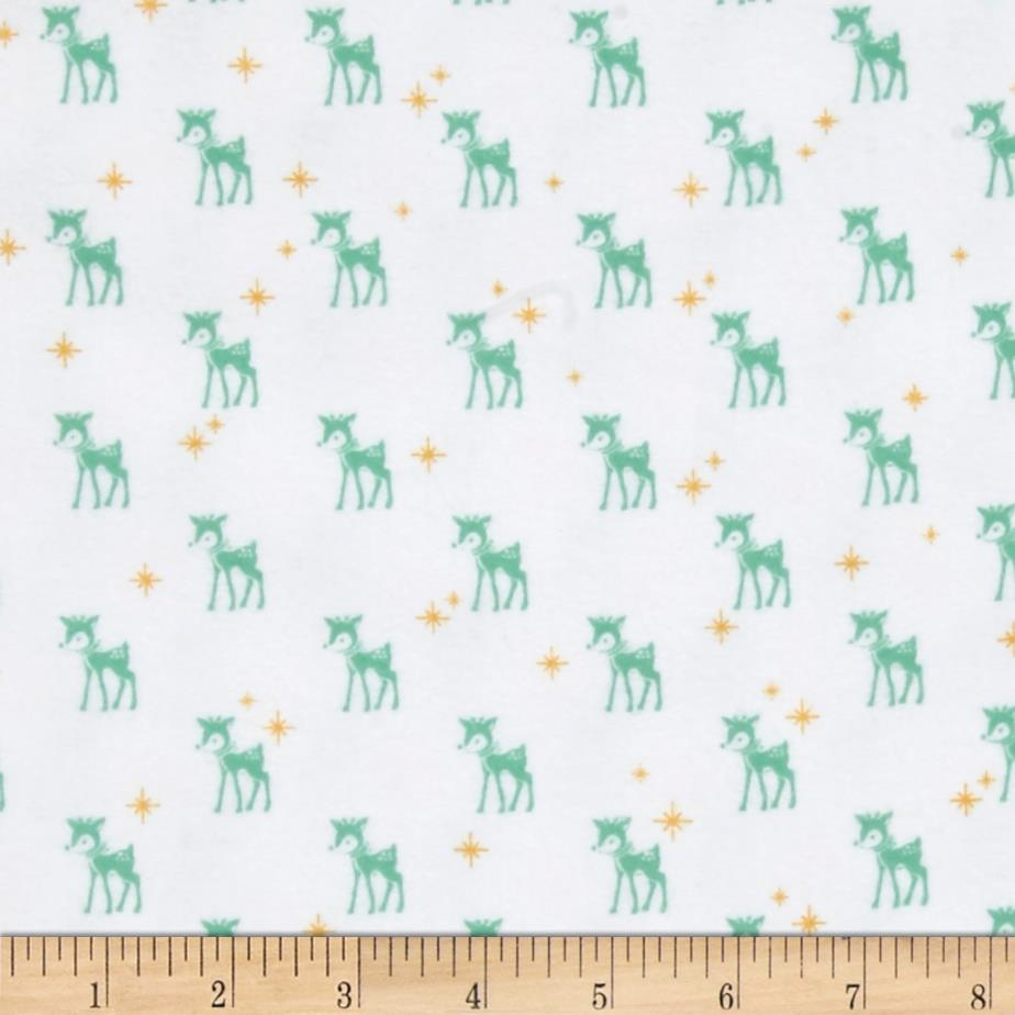 Riley Blake Cozy Christmas Flannel Reindeer White