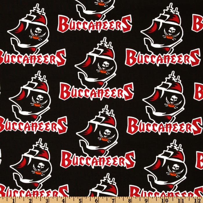 NFL Cotton Broadcloth Tampa Bay Buccaneers Red/Black