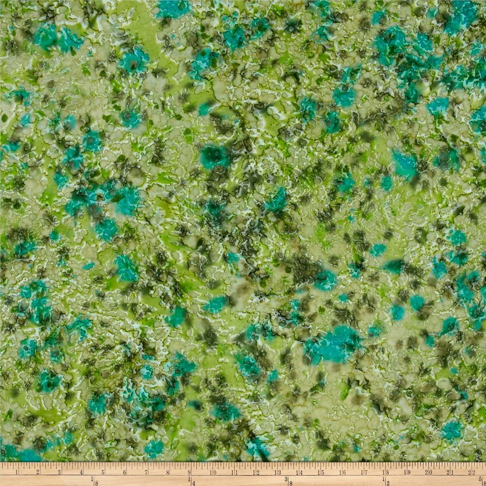 Indian Batik Lava Spray Texture Green