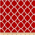 Quatrefoil Red/White