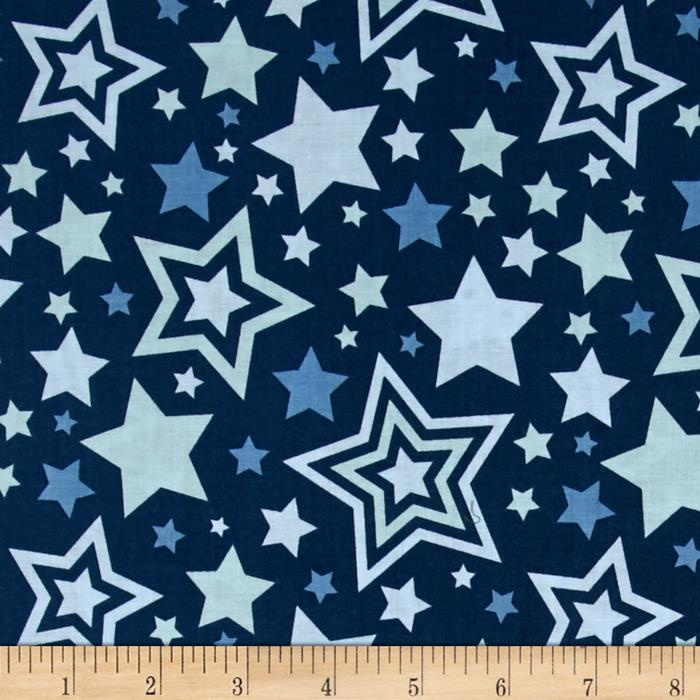 Riley Blake Lucky Star Main Navy