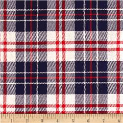 Yarn Dyed Flannel Plaid Navy/Red/Cream