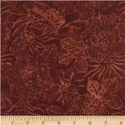 Timeless Treasures Tonga Batik Spice Market Dotted Floral Brick