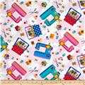 Timeless Treasures Sewing Toss Pink