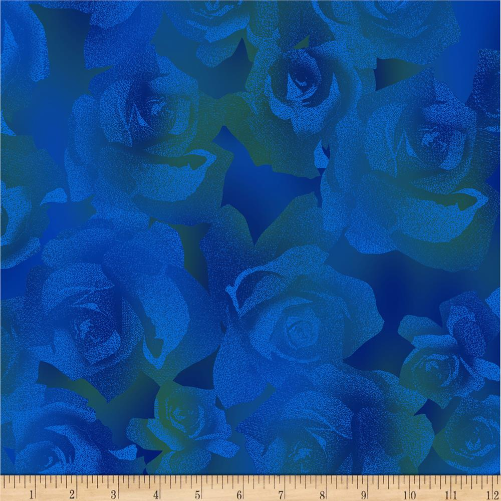 Jinny Beyer Burano Textured Rose Blue Fabric