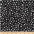 Timeless Treasures Random Dots Black