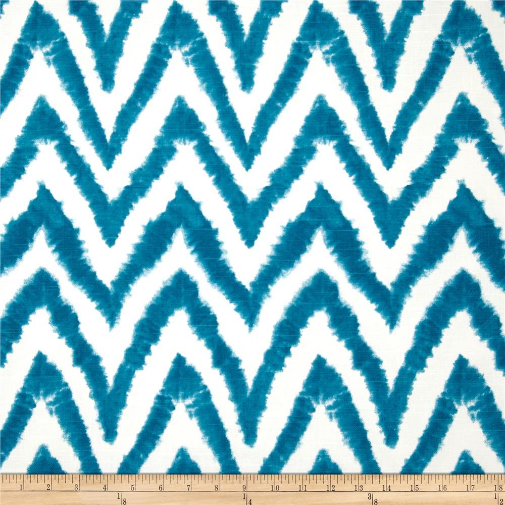 Premier Prints Diva Chevron Slub Aquarius