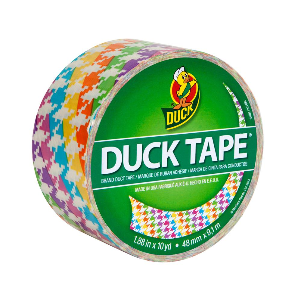"Patterned Duck Tape 1.88"" x 10yd-Neon Houndstooth"