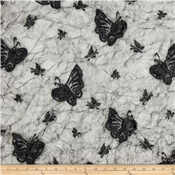 Crushed Lace Butterfly Black