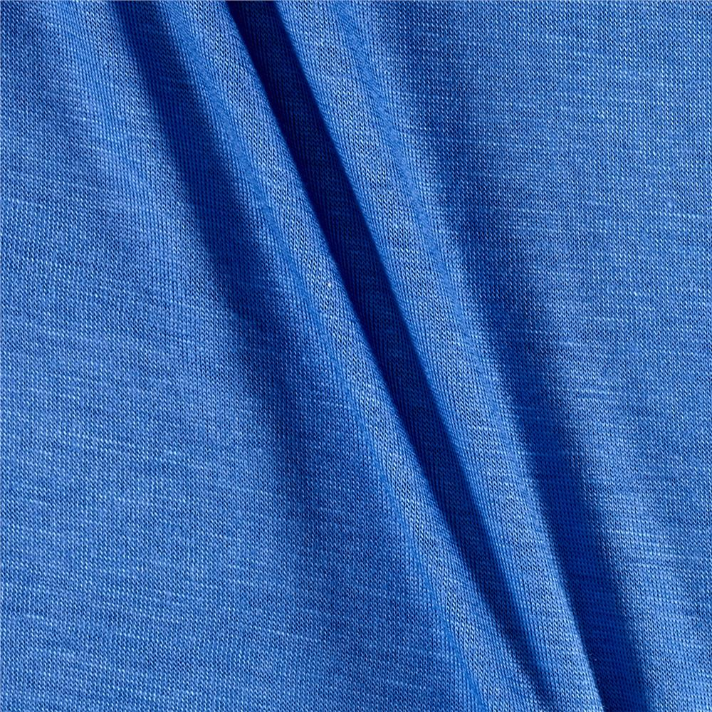 Jersey Knit Solid Porcelain Blue Fabric By The Yard