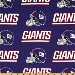 NFL Cotton Broadcloth New York Giants Blue/Red Fabric