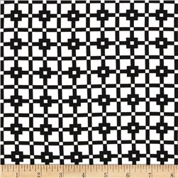 Robin Crepe Square Mosaic Black/White Fabric