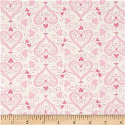 Moda Ever After Ups & Downs Ivory/Pink