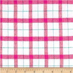 Marcus Primo Plaids Color Crush Flannel Blocks White/Pink