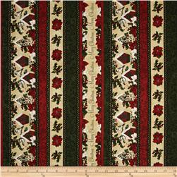 Home for the Holidays Medium Pictorial Stripe Cream