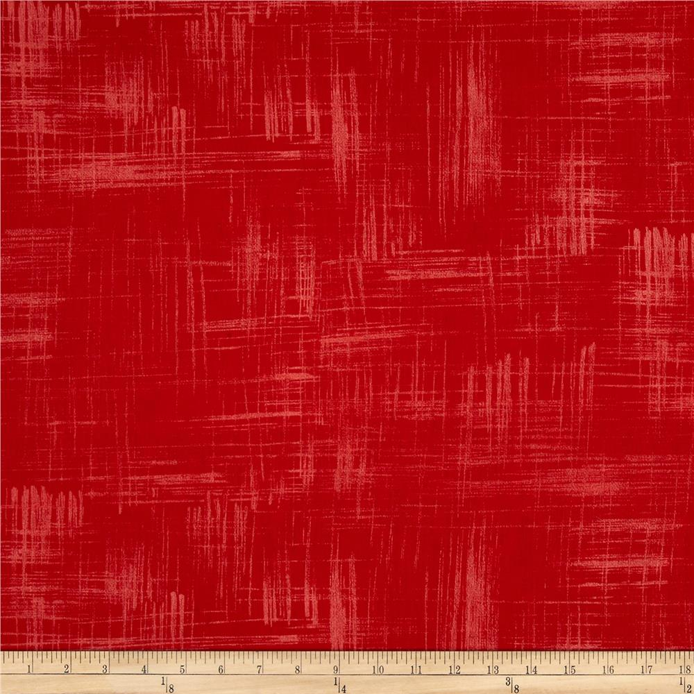 Michael Miller Painters Canvas Red