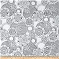 Michael Miller Color Me Floral Fantasy White