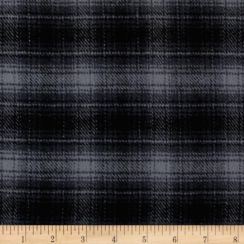 Color Catchers Yarn-Dye Flannel Ombre Plaid Black