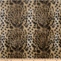 Luxury Faux Fur Leopard Gold