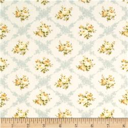 Lecien Rococo Sweet Flower Lattice Blue