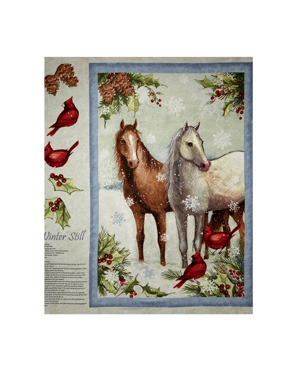 Susan Winget Winter Still 36 In. Wall Hanging Panel Multi Fabric By The Yard