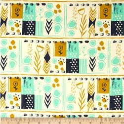 Cotton & Steel August Mezzanine Teal Fabric