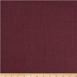 Basketweave Pure Linen Maroon