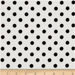 Liverpool Double Knit Dots Ivory/Black