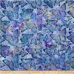 Kaufman Artisan Batiks Enchanted Butterflies Wineberry