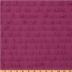 Stretch Ruffle Knit Fuchsia