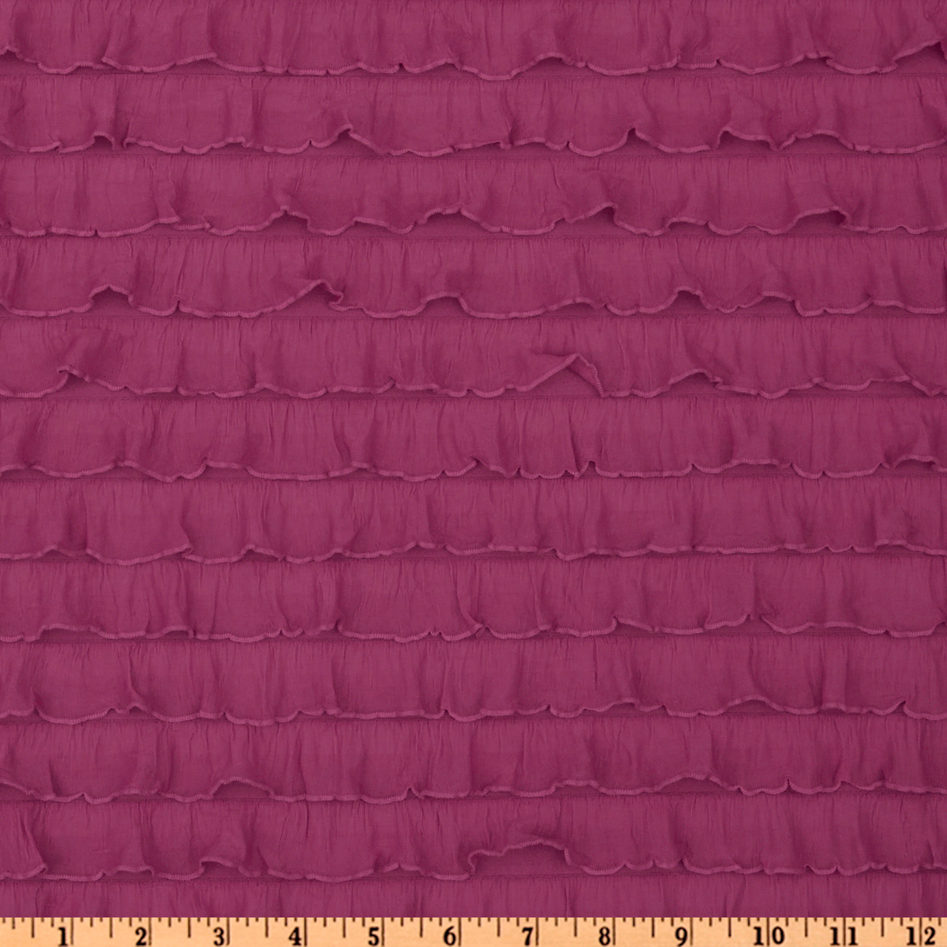 Stretch Ruffle Knit Fuchsia Fabric