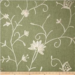 Bartow Embroidered Garden State Floral Ivory/Sage